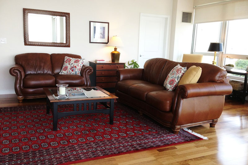 how to stage a small living room riverside residence northern liberties henck design 27605
